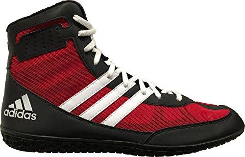 Adidas Men's Mat Wizard.3 Wrestling Shoes, Power Red/Black/White, 8 M US