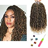 Bomb Twist Crochet Hair 6 Packs Spring Twist Hair Prelooped Crochet Braids Synthetic Hair Extension Passion Twist Mini Twist Hair dreadlocks Braiding Hair for Women 14inch By Mirra's Mirror (T1B/27)