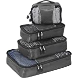 eBags Classic Small/Medium Packing Cubes for Travel - Organizers - 4pc Set - (Titanium)