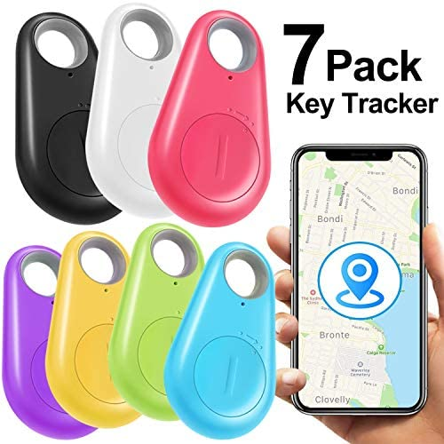 Latest and top rated [New Upgraded]7 Pack Key Finder Smart Tracker,Wireless Anti-Lost Alarm Sensor Item Finder GPS Tracker Locator for Kids Pet Dogs Cats Car Phone Purse Luggage Small Things Selfie Shutter Tracking Device with best price