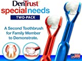 2-Pack : DenTrust 3-Sided Toothbrush : Specialty : Tooth Cleaning Brush : Fun, Fast and Complete :