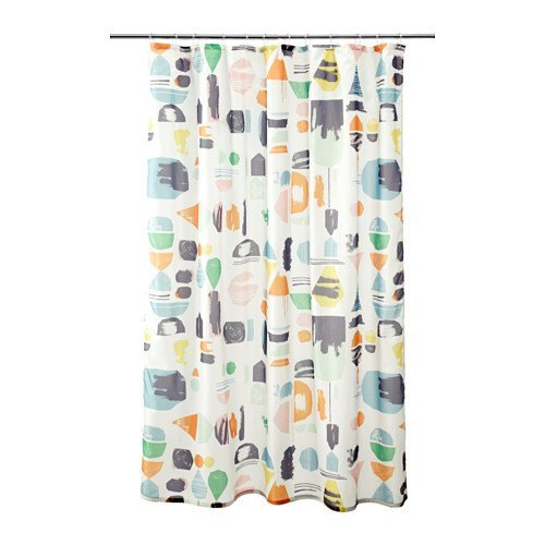 IKEA NEW'DOFTKLINT SHOWER CURTAINS, Multicolor ''