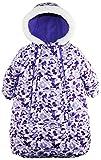 Pink Platinum Baby Girls Snowsuit Carbag Floral Camo Winter Puffer Bunting Pram, Purple, 6-9 Months