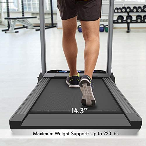 SereneLife Folding Digital Display Electric Treadmill – Fitness Training Cardio Equipment for Home Workouts, Jogging, Walking Exercise – Compact Minimal Profile Running Belt 4