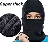 Product review of SYQ Super Thick Adjustable Lightweight Soft Balaclava Scarf Winter Windproof Ski Face Mask for Men/Women/Kids,Cold Weather Fleece Hat/Hood Neck Warmer for Skiing Cycling Motorcycle Outdoor Sport