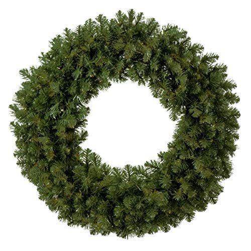 Red Sleigh Sequoia Fir Commercial-Grade Traditional Christmas Wreath and Matching Christmas Garland Greenery (48' Wreath, Unlit)