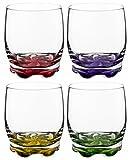 Vibrant Splash Water/Beverage Glasses, 9.75 Ounce - Set of 4