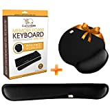 CushionCare Keyboard Wrist Rest Pad - Full Mouse Pad Included for Set - Memory Foam Cushion - Ergonomic Support - Prevent Carpal Tunnel & RSI When Typing on Computer, Mac & Laptop