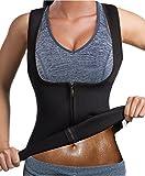 GAODI Women Waist Trainer Sauna Vest Slim Corset Neoprene Cincher Tank Top Weight Loss Body Shaper (M, Black)