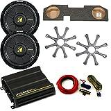 Kicker Dodge Ram Quad / Crew Cab 02-15 - 12' Comp D Subs under-seat w/ Kicker Grilles, 300 watt Amp & Wire kit