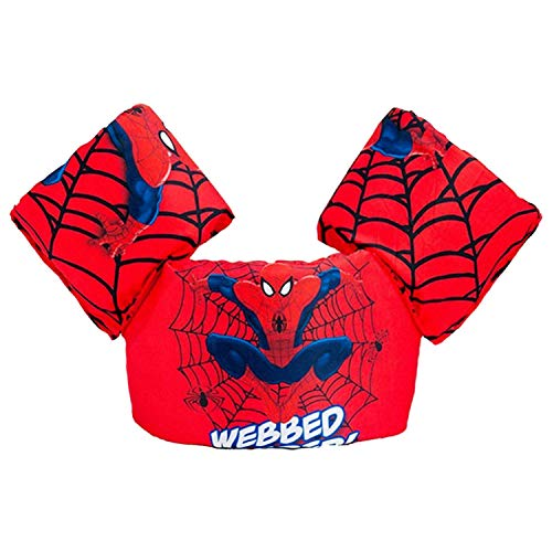 CONHENCI Swim Aid Puddle Jumper Life Jacket Floaties for Toddlers 30-55lbs(Red Spiderman)