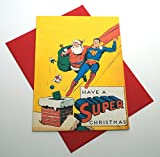Have A Super Christmas, Superman with Santa Christmas Greeting Card: Free Shipping