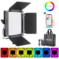 Neewer 660 RGB Led Light with APP Control, 660 SMD LEDs CRI95/3200K-5600K/Brightness 0-100%/0-360 Adjustable Colors/9…