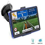 Prymax GPS Navigation for Car, 7 inches Car GPS Navigation System with Touch Screen/ 8GB Memory/Lifetime Map Update/Turn-by-Turn Directions/Direct Access/Driver Alerts