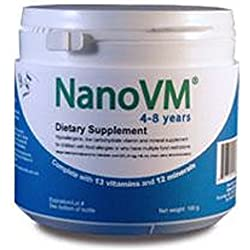 Nanovm 4-8 Years Dietary Supplement 275 G Gluten-free Sold By Each by Solace Nutrition
