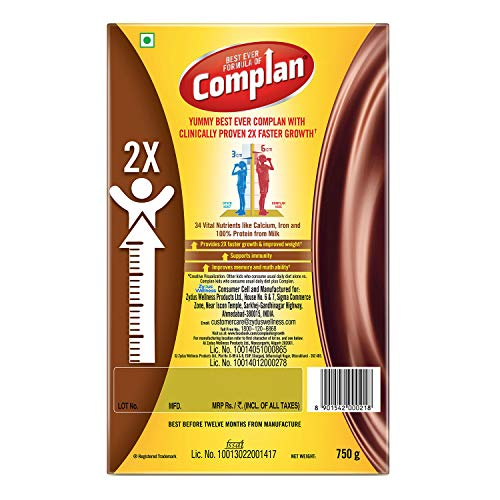 51X4Us16VIL - Complan Nutrition and Health Drink Royale Chocolate, 750gm (Carton)