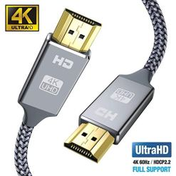 51X4cvmpyWL - 4K HDMI Cable 2M HDMI Lead-Snowkids Ultra High Speed 18Gbps HDMI 2.0 Cable 4K@60Hz Compatible Fire TV, 3D Support, Ethernet Function, Video 4K UHD 2160p, HD 1080p, 3D - Xbox PlayStation PS3 PS4 PC ect