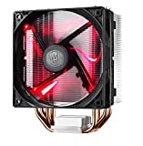 Cooler Master RR-212L-16PR-R1 Hyper 212 LED CPU Cooler with PWM Fan, Four Direct Contact Heat Pipes, Unique Blade Design and Red LEDs
