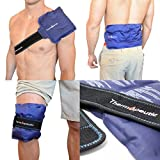 "Thermopeutic Reusable Ice Pack for Injuries and Pain Relief (15"" X 7"") - Extra Cold Long Lasting Gel Formula - for Shoulder, Back, Knee, Arm, Foot and More"