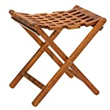 Product review for Bare Decor Mosaic Folding Stool in Solid Teak Wood