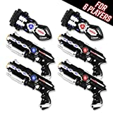 Power Tag Infrared Laser Tag Gun & Glove Set – for Kids & Adults – 6 Player Pack with 4 Guns and 2 Battle Blasters – Infrared -1mW