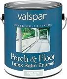 Valspar 1533 Porch and Floor Latex Satin Enamel, 1-Gallon, Light Gray