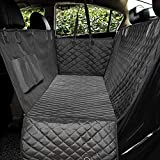 Honest Luxury Quilted Dog Car Seat Cover with Side Flap Pet Front&Backseat Cover for Cars, Trucks, and Suv's - Waterproof & Nonslip Diamond Pattern Dog Seat Cover(Door Protector)