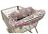 Itzy Ritzy Shopping Cart and High Chair Cover Featuring Padding, Toy Loops, Pockets and Safety Belts - for Use in Shopping Carts and High Chairs, Fresh Bloom