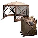 Quick-Set Clam Escape Outdoor Gazebo Canopy + 3 Wind Panels