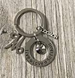 Personalized Softball Coach Keychain with Letter Initial, Custom Softball Gift, Live Love Softball Jewelry, Perfect Gift for Softball Coaches