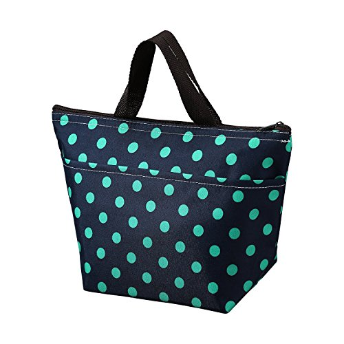 Printing Lunch Bags, Arricastle Oxford Cloth Aluminum Foil Insulated Zip Cooler Bag...