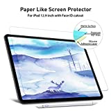 FOJOJO Paperlike iPad Pro 12.9 Screen Protector, Matte PET Paperlike Film with Face ID for iPad 12.9 (2018 Release), Compatible with Apple Pencil