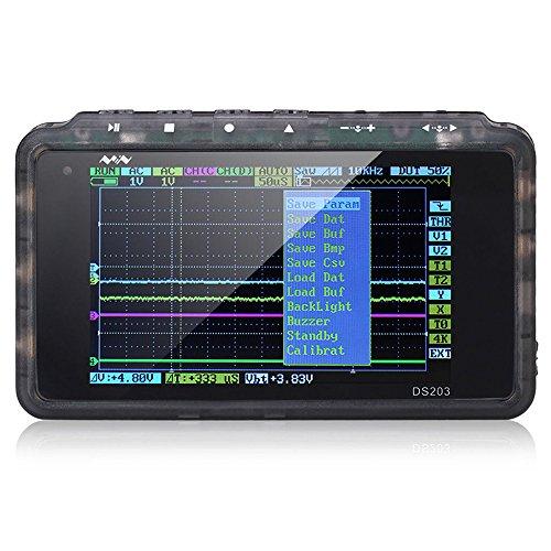 SainSmart Mini DSO203 Handheld Pocket-Sized Digital Storage Oscilloscope 4 Channels, 8MHz Analog Bandwidth, 72 MSps Sample Rate (DSO203-Plastic)