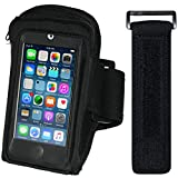i2 Gear MP3 Player Armband for Running & Exercise - Workout MP3 Holder with Adjustable Arm Band & Zipper Pocket – Universal Armband for iPod Touch 5th & 6th Generation (20 inch)