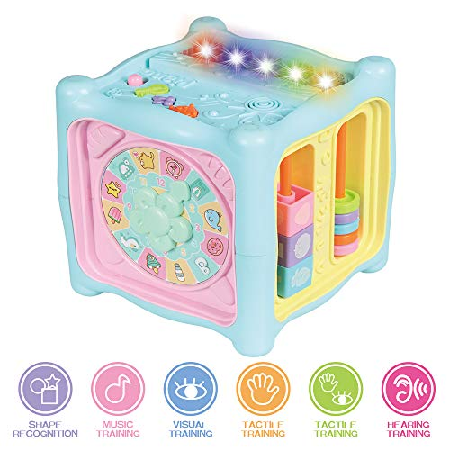 Locke Teddy Baby Kids Learning Musical Activity Cube Toy for Kids