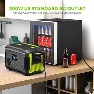 2020-New-Model-Portable-Power-Station-200-230Wh62400mAh-Camping-Solar-Generator-Emergency-Backup-Battery-110V-200W-300W-Peak-AC-Outlet-QC-30-USBType-C-PD-Port-12V-DC-for-Outdoor-Camping