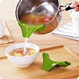 PiggiesC Silicone Soup Funnel Kitchen Gadget Tools Water Deflector Tool