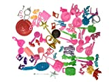 KUPOO Group of 15 Bags 60 Items Shoes Glasses Necklace Tableware Fit Barbie Dolls