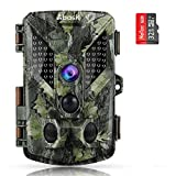 Abask Trail Game Camera with 32G Memory Card Trail Cameras with Night Vision Motion Activated IP67 Waterproof 16MP 1080P Hunting Camera 940nm 46pcs IR LEDs