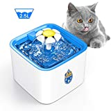 DELOMO Pet Water Fountain, 84oz/2.5 L Automatic Electronic Pet Fountain, Cat Water Fountain, Super Quiet Water Dispenser for Cats