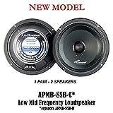 1 Pair of AudioPipe APMB-8SB-C 8' Full Range Car Audio DJ Sealed Back Mid