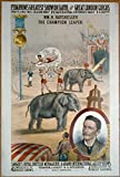 1879 Photo P.T. Barnum's greatest show on earth, and great London circus, Sanger's Royal British menagerie & grand international allied shows Circus poster showing Wm. H. Batcheller, 'The champion lea