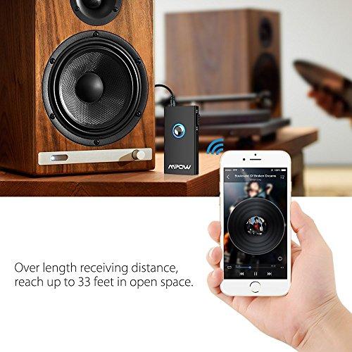 Mpow Trasmettitore e Ricevitore Bluetooth 2 in 1, Vivavoce Chiamata Car Kit, Wireless Bluetooth Adattatore Audio 3.5mm Musica Stereo per Cuffie, Altoparlanti, Stereo, TV, PC, Tablet Laptop, MP3 / MP4 ( Bluetooth 4.1 + EDR, A2DP & AVRCP )