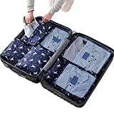 Sackorange 7 Set Travel Storage Bags Packing cubes Multi-functional Clothing Sorting Packages,Travel Packing Pouches,Luggage Organizer (Horse)