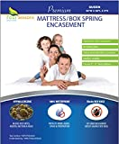Zippered Queen Mattress/Box Spring Protector (8'-11' Depth) - Bed Bug Waterproof Encasement Hypoallergenic Premium Quality Cover Protects from Dust Mites Allergens Vinyl-Free Breathable Noiseless
