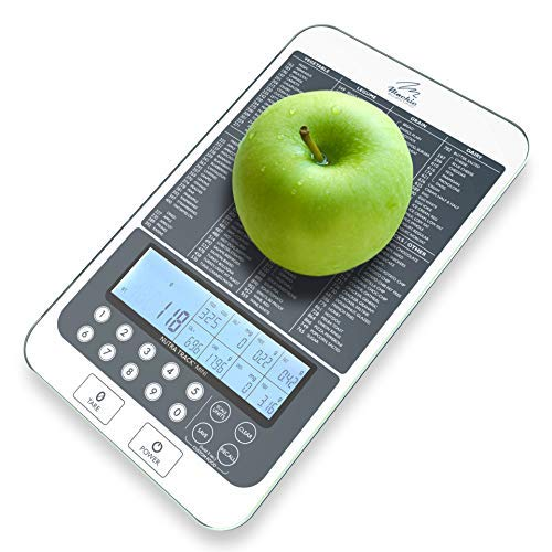 Mackie Digital Kitchen Food Scale Auto Macro and Calorie Calculator Easy Save With Running Totals Through The Day (New Colors) 10 YR WARRANTY Buy Now