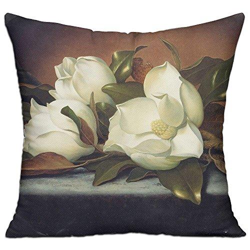 WQBZL Giant Magnolias Flowers Painting Fashion Decorative Throw Pillow Deluxe Pillows 18