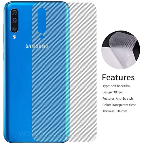 Casodon Samsung Galaxy A30S Back Skin Screen Guard Carbon Fiber Finish Vinyl for Scratch Protection 121