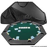 51 X 51 Inch Octagon Padded Poker Tabletop GreenPoker Layout, Green