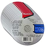 """Makita 10 Pack - 4.5"""" Cut Off Wheels For Grinders - Aggressive Cutting For Metal & Stainless Steel/INOX - 4-1/2"""" x .045 x 7/8-Inch"""